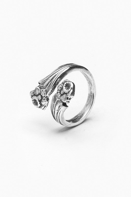 Lilly Spoon Ring - Silver Spoon Jewelry