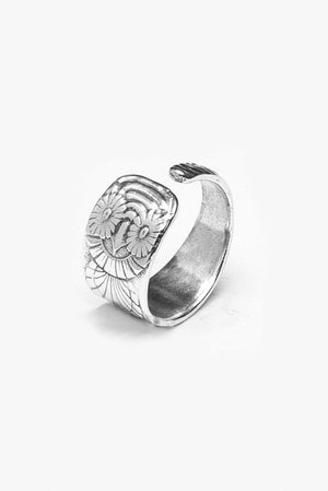 Owl Spoon Ring - Silver Spoon Jewelry