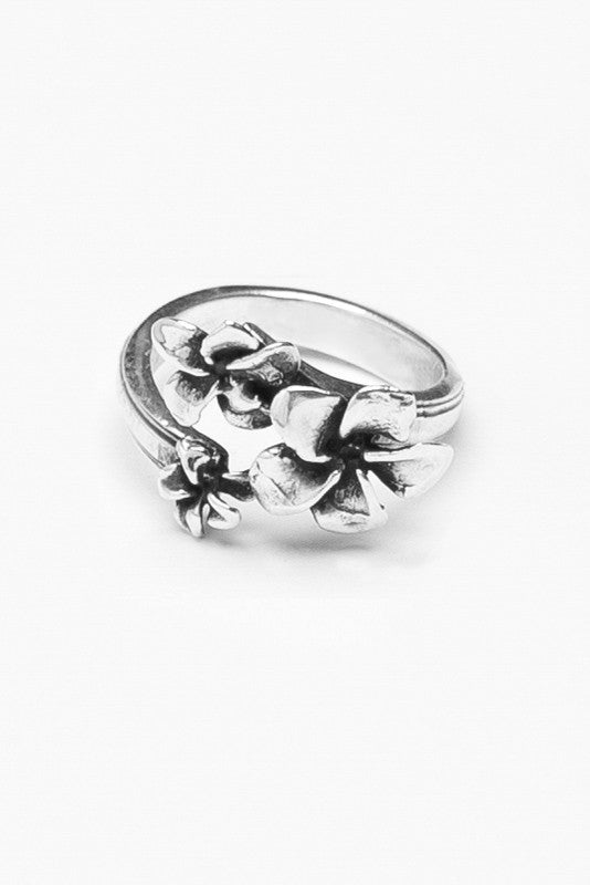Plumeria Spoon Ring - Silver Spoon Jewelry