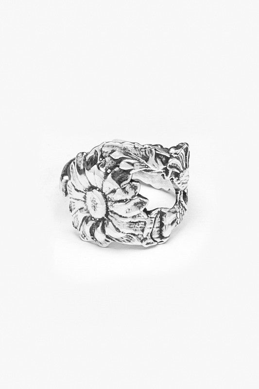 Sunflower Spoon Ring