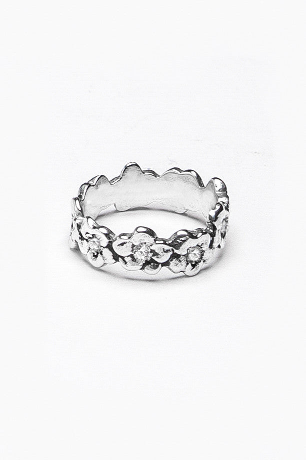 Charlotte Gemstone Band Ring - Silver Spoon Jewelry