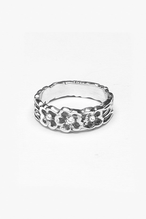 Delia Gemtone Band Ring - Silver Spoon Jewelry