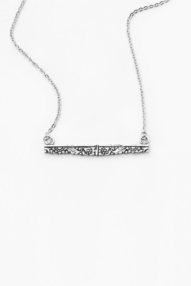 Jolie Bar Necklace - Silver Spoon Jewelry