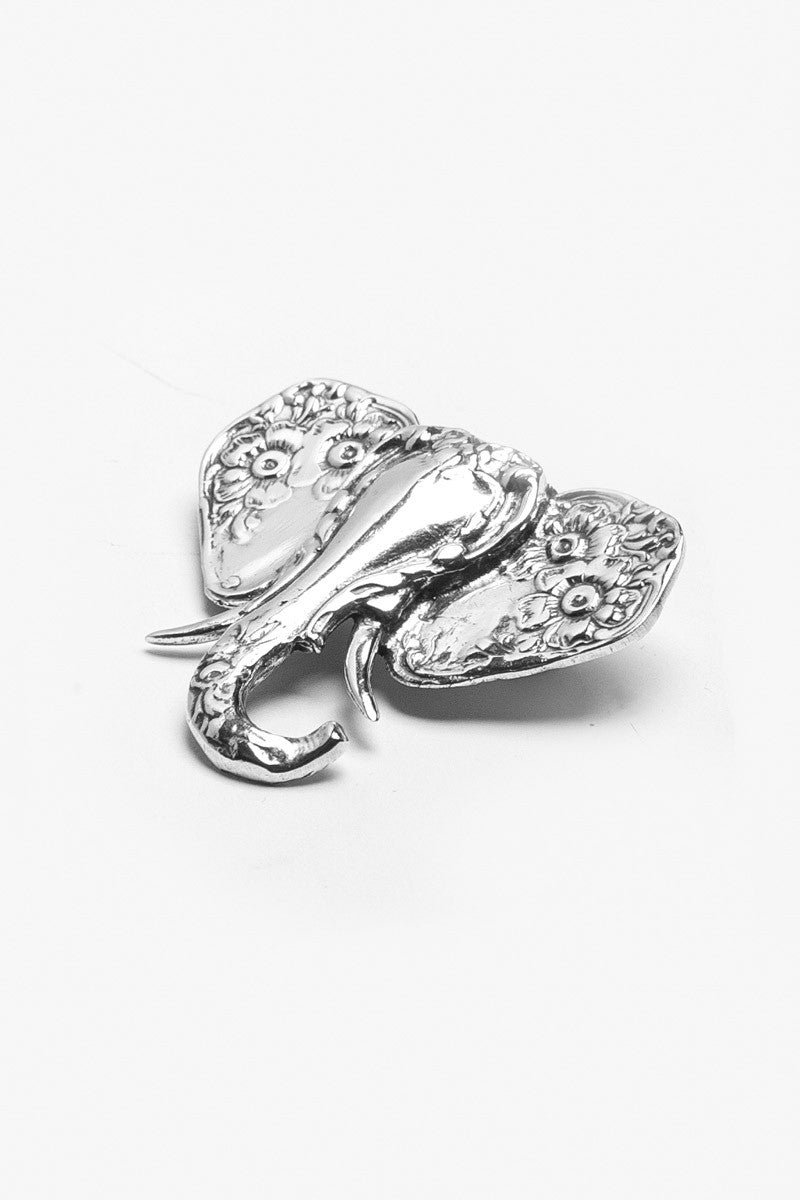 Elephant Brooch - Silver Spoon Jewelry