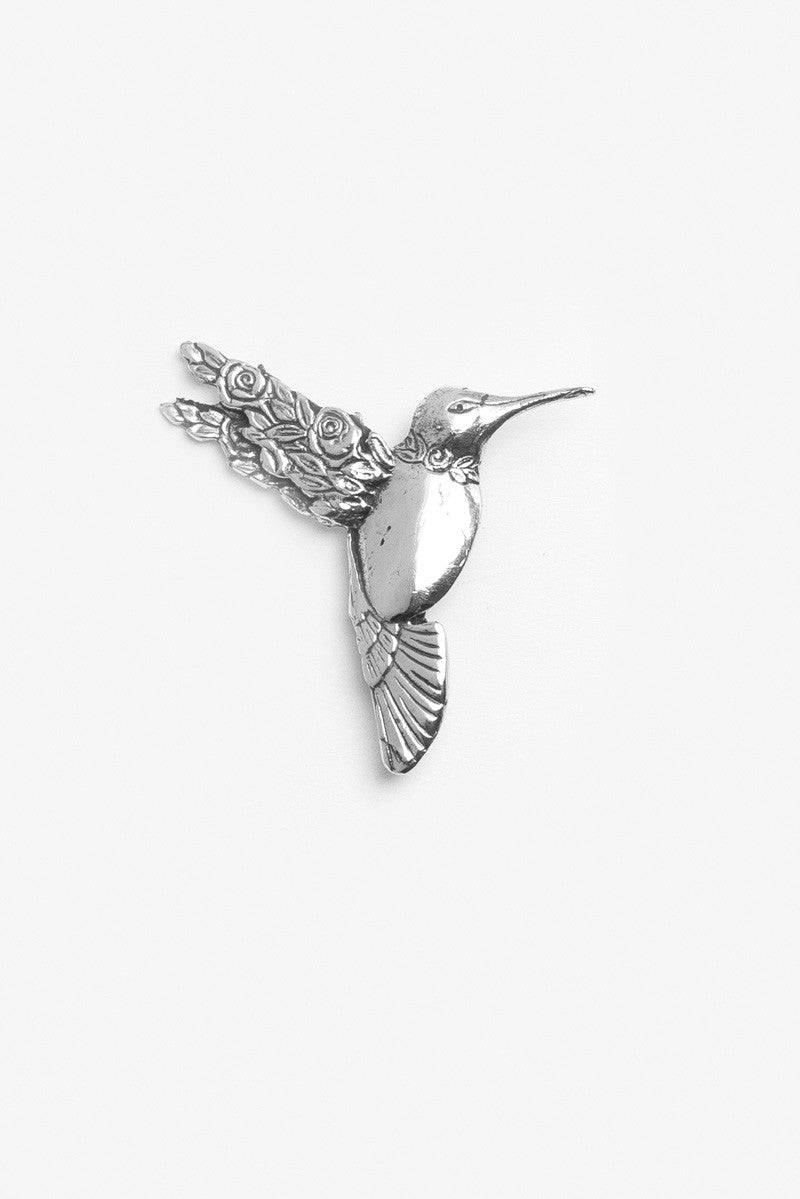 Hummingbird Brooch Pin - Silver Spoon Jewelry