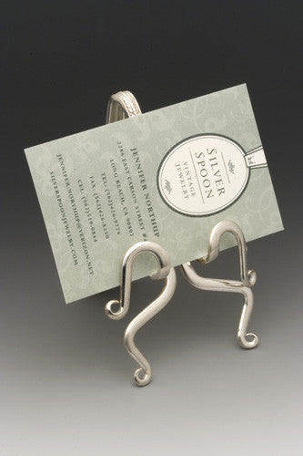 Fork Business Card Holder - Silver Spoon Jewelry