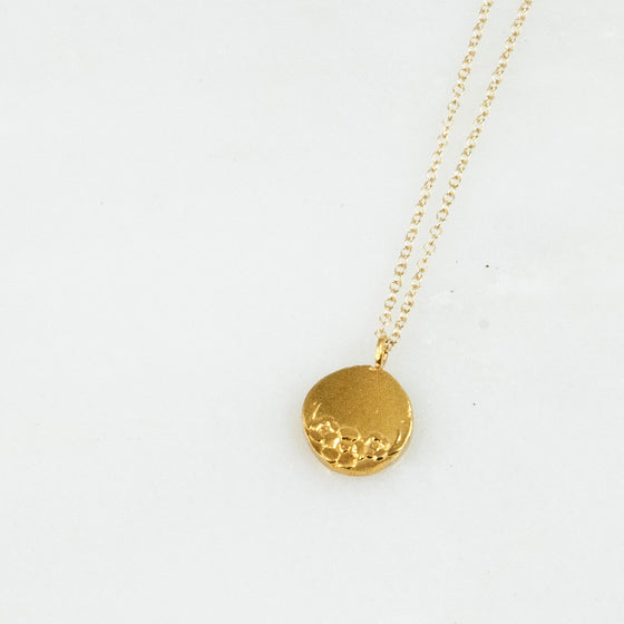 Vermeil Circle Sterling Necklace