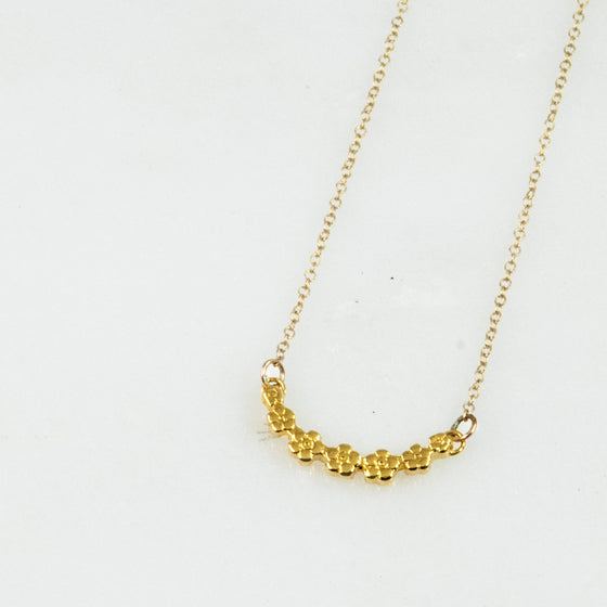 Vermeil Flora Sterling Necklace - Silver Spoon Jewelry
