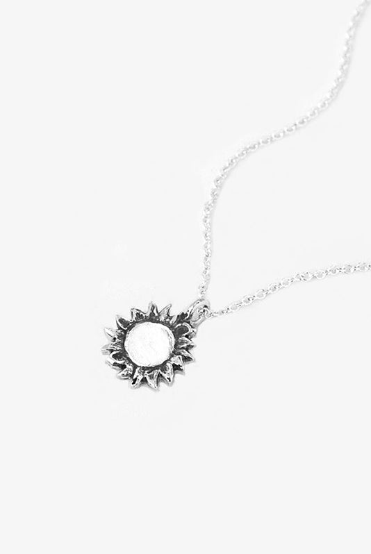 Sun Sterling Necklace - Silver Spoon Jewelry