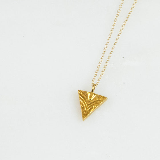 Vermeil Triangle Sterling Necklace - Silver Spoon Jewelry