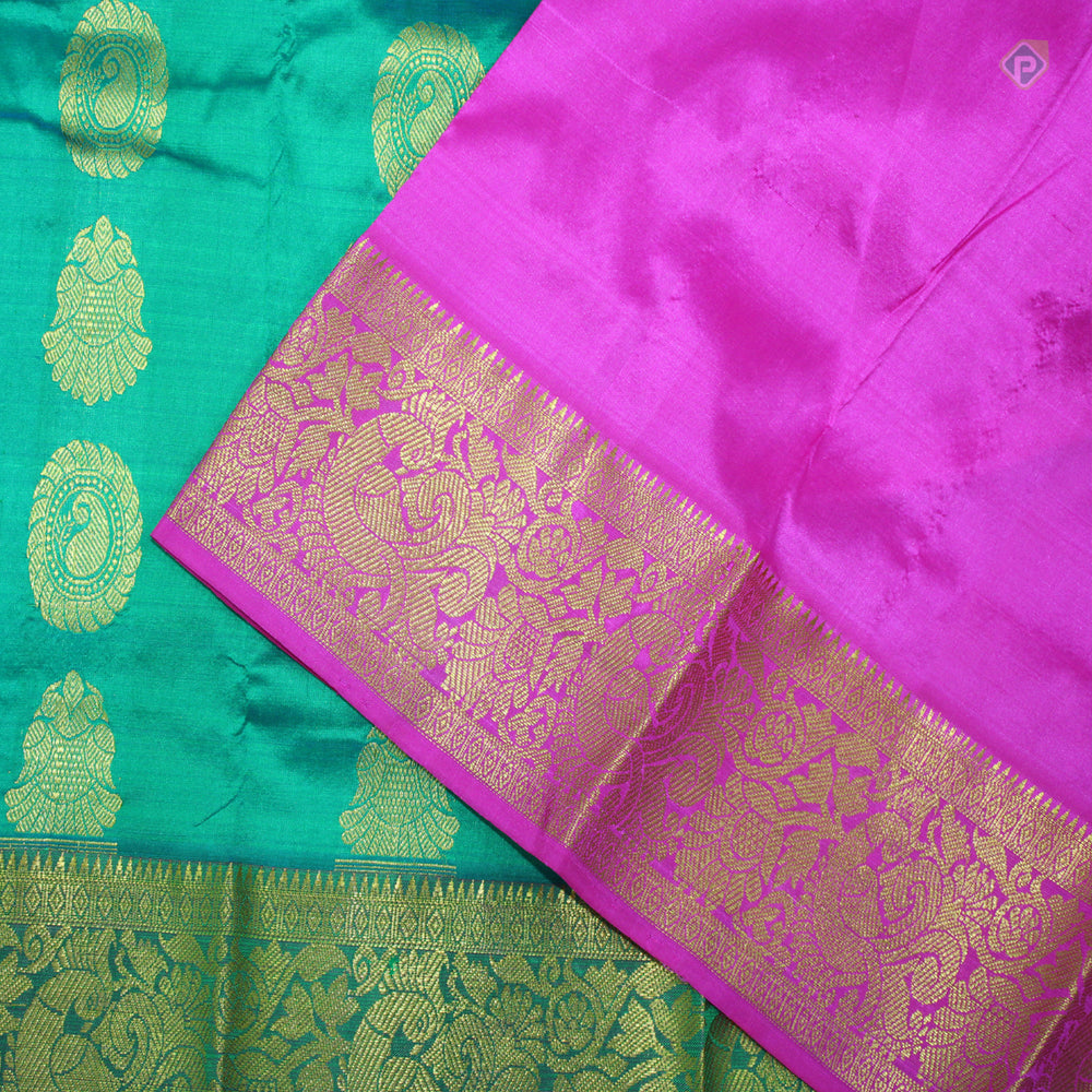 Dark Green with Pink New born to two years Pavadas