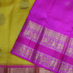 Yellow With Pink Colour Organza (or) Kora Silk Saree