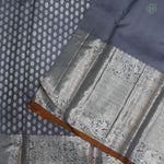 Steel Gray Colour Silver Silk Saree