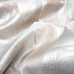 Peach Cream Colour Bridal Saree