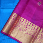 Azure Blue With Rani Pink Colour Gift Silk Saree