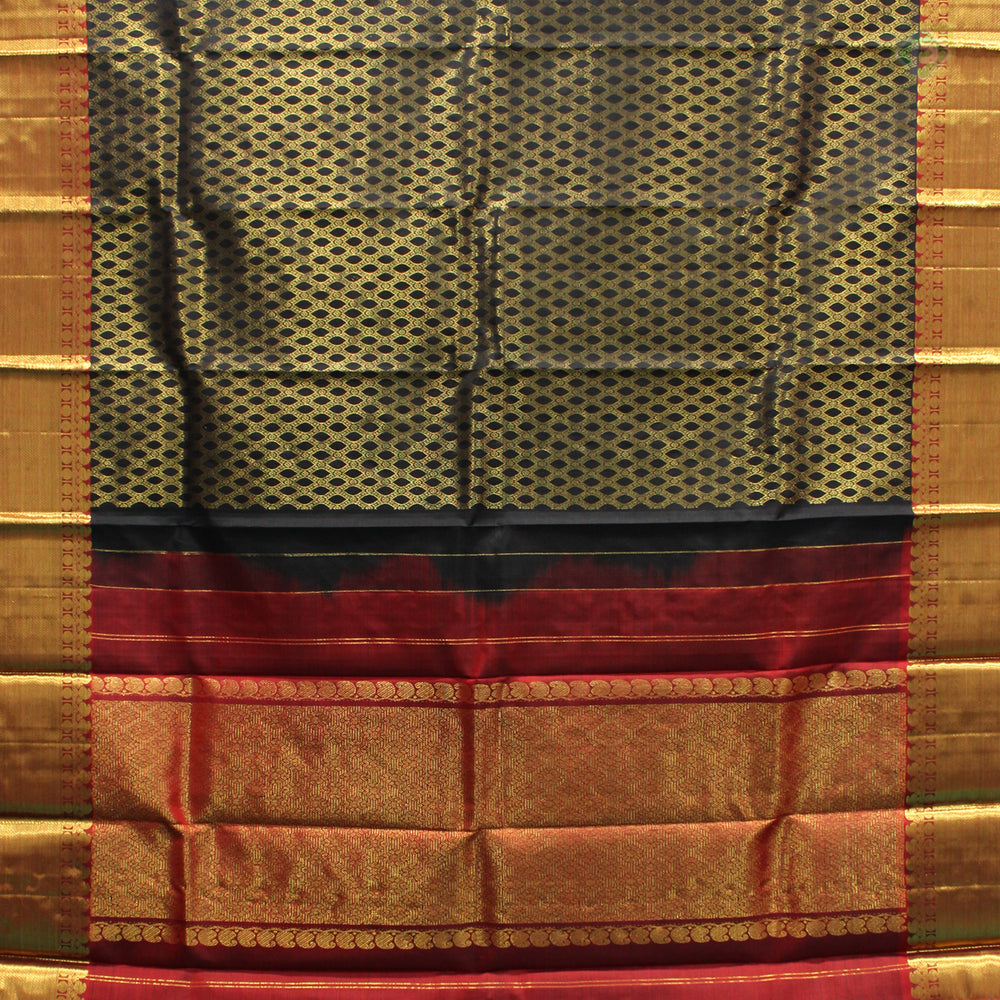 Black With Maroon Red Colour Silk Dupattas