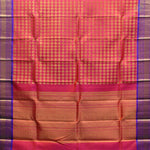 Brick Pink With Grape Violet Colour Silk Dupattas