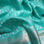 Sky Blue Colour Silk Dupattas