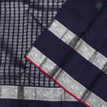 Navy Blue Colour Silver Bridal Silk Saree