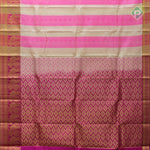 Multi Colour With Hot Pink Colour Embossed Silk Saree