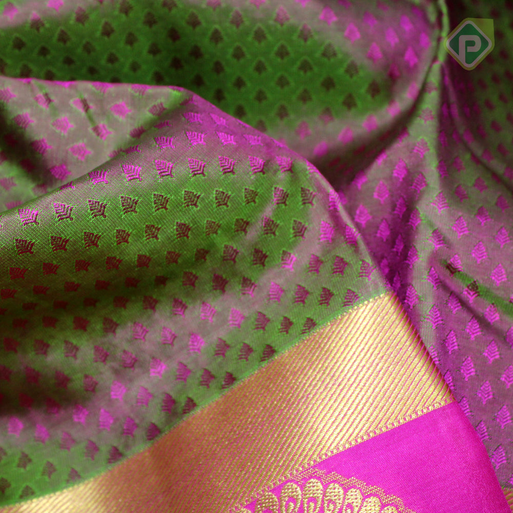 Manthulir Pink With Hot Pink Colour Gift Silk Saree