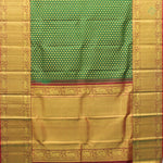 Forest Green With Maroon Red Colour Bridal Silk saree