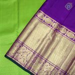 Kelly Green With Grape Violet Colour Bridal Saree