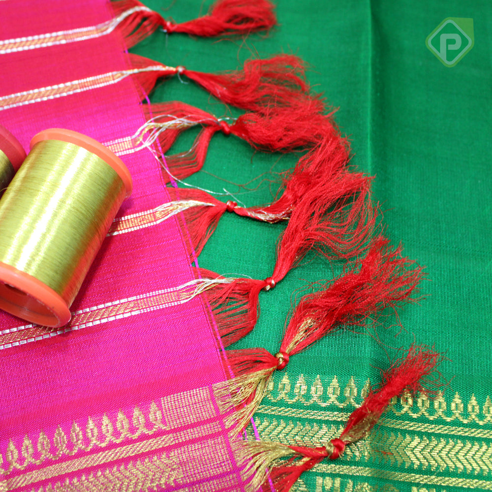 Magenta Pink Colour Bridal Saree