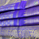 Royal Blue Colour Bridal Saree