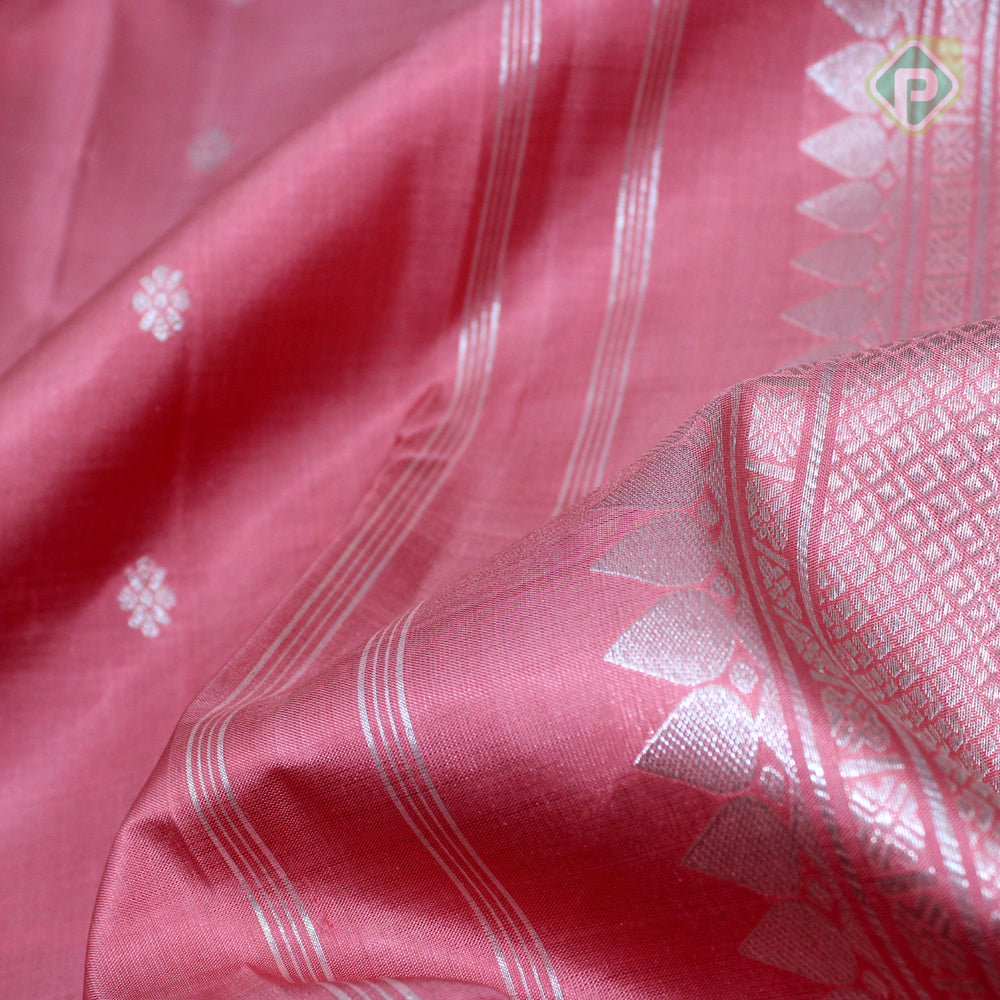 Peach Pink Colour Traditional Saree