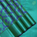Sea Green With Royal Blue Colour Fancy Silk Saree