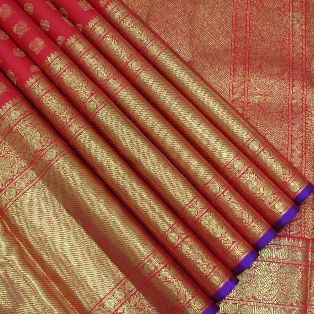 Candy Apple Red Colour Bridal Silk saree