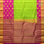 Florescent Green With Florescent Pink Colour Gift Silk Saree