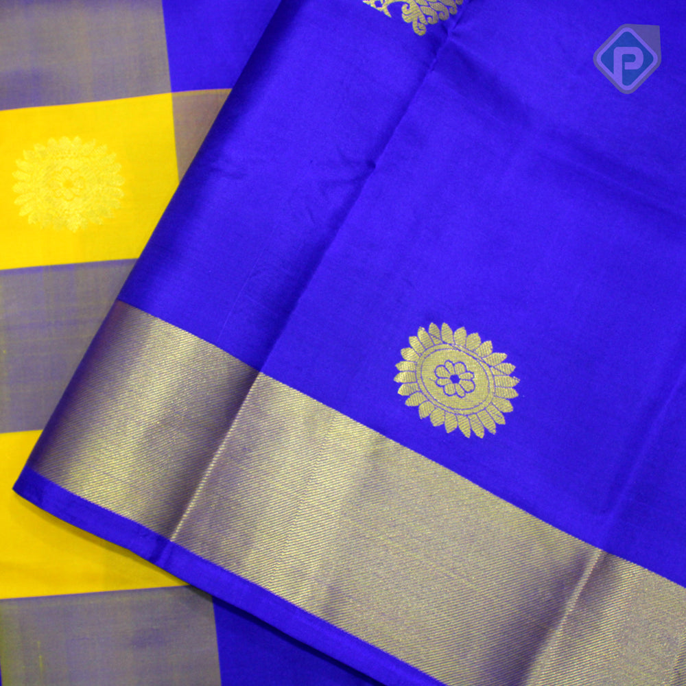 Multi Colour With Blue Colour Gift Silk Saree