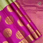 Sandal Cream With Baby Pink Colour Gift Silk Saree