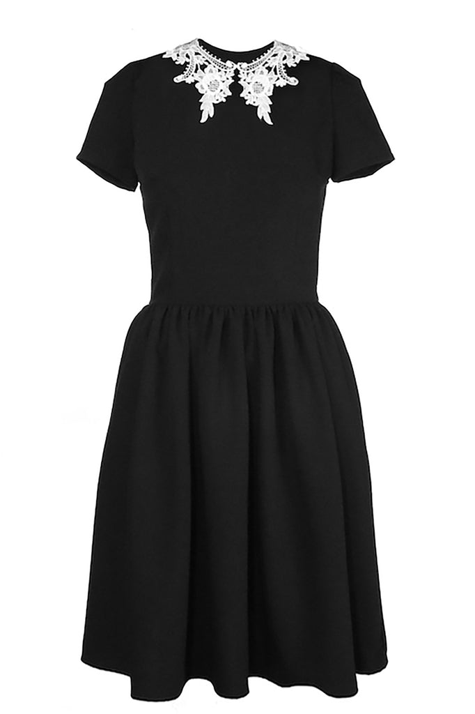 ROSELLE DRESS MEDIUM LENGTH with LACE COLLAR