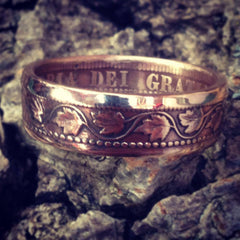 Old Canadian Cent - Coin Ring