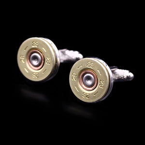 28 Bore Shotgun Cartridge Cufflinks