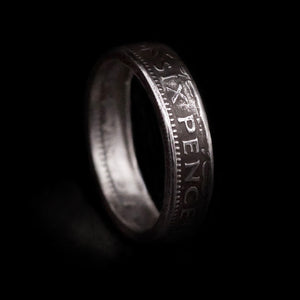6 Pence Coin Ring