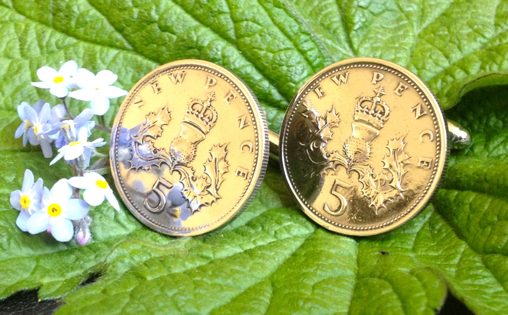 Old Five New Pence Cufflinks