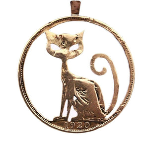 Big-Headed Pussy Cat - Coin Pendant