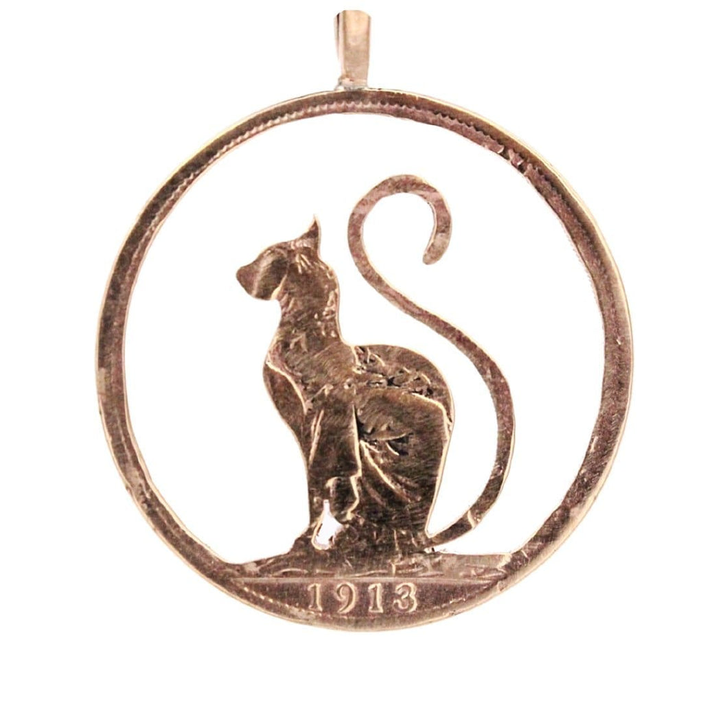 Cat - Coin Pendant