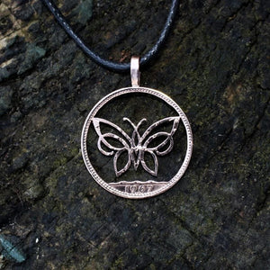 Celtic Butterfly - Coin Pendant