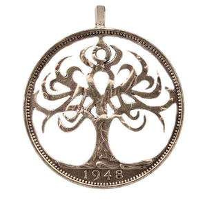 Celtic Tree of Life coin pendant - Coin Pendant