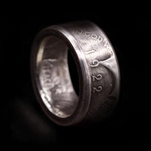 Liberty Peace Silver Dollar Coin Ring
