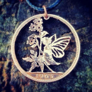 Fairy in the Daffodils - Coin Pendant