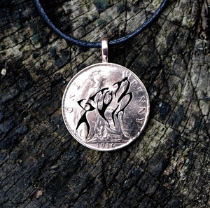 Howling Wolf - Coin Pendant