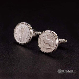 Irish 3 pence Cufflinks - Coin Cufflinks