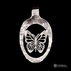 Monarch Butterfly - Spoon Pendant