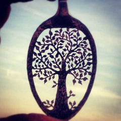 Oak Tree of Life - Spoon Pendant